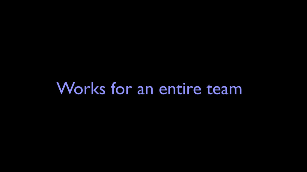 Works for an entire team