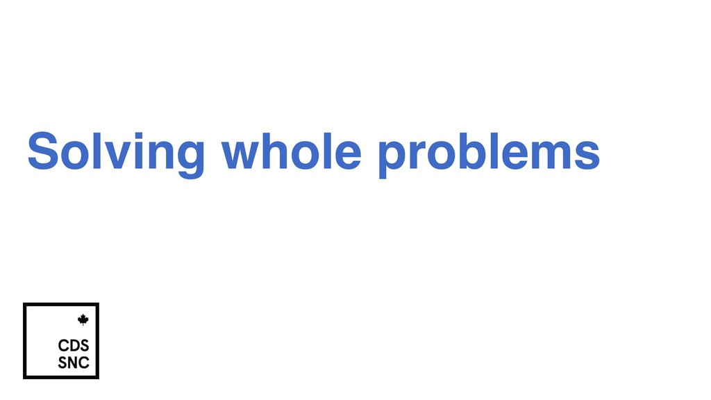 Solving whole problems