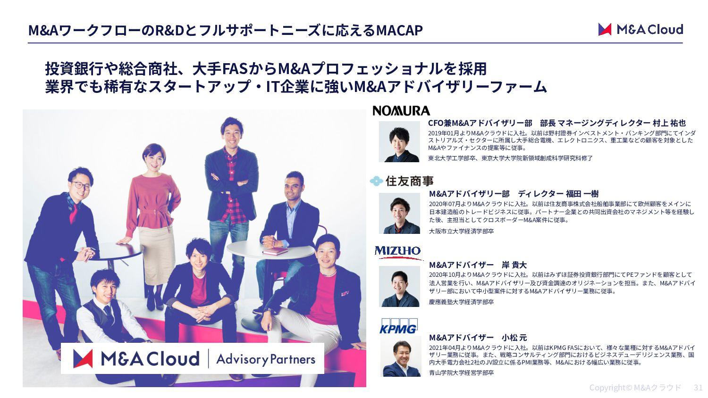 IT M&A MACAP 買い⼿の課題・ 買収⽬的 M&A成約実績 スキーム 買い⼿ 売り⼿ ...