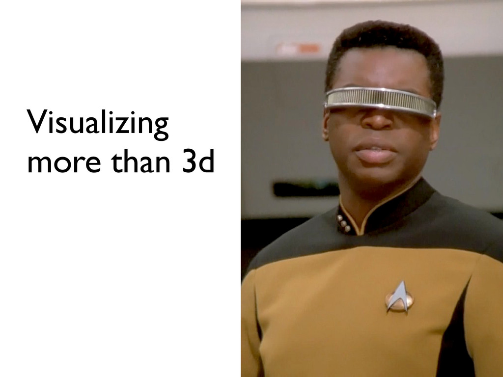 Visualizing more than 3d