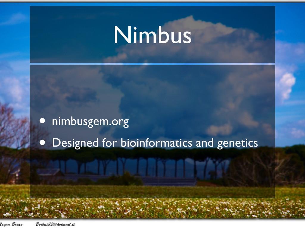 Nimbus • nimbusgem.org • Designed for bioinform...