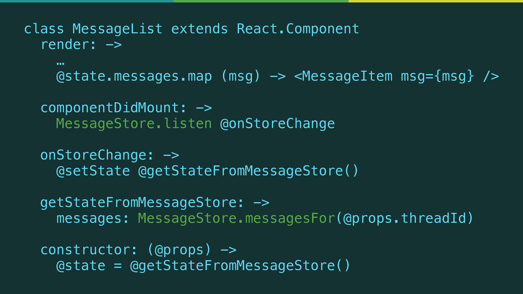 class MessageList extends React.Component rende...
