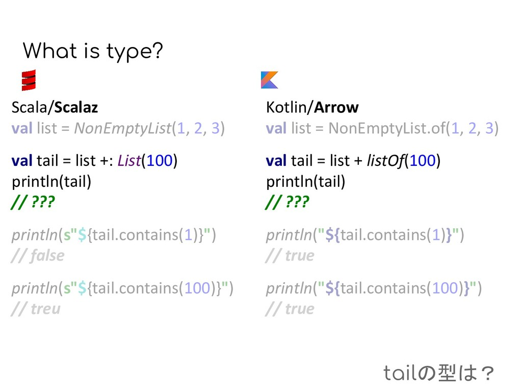 What is type? Kotlin/Arrow val list = NonEmptyL...
