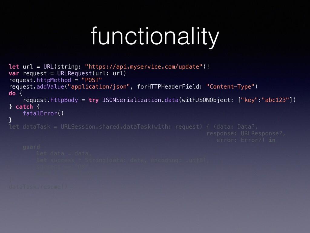 "functionality let url = URL(string: ""https://ap..."