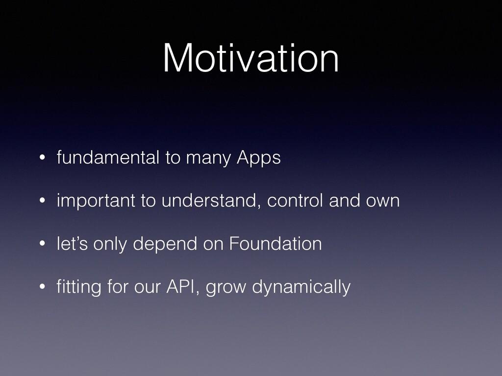 Motivation • fundamental to many Apps • importa...