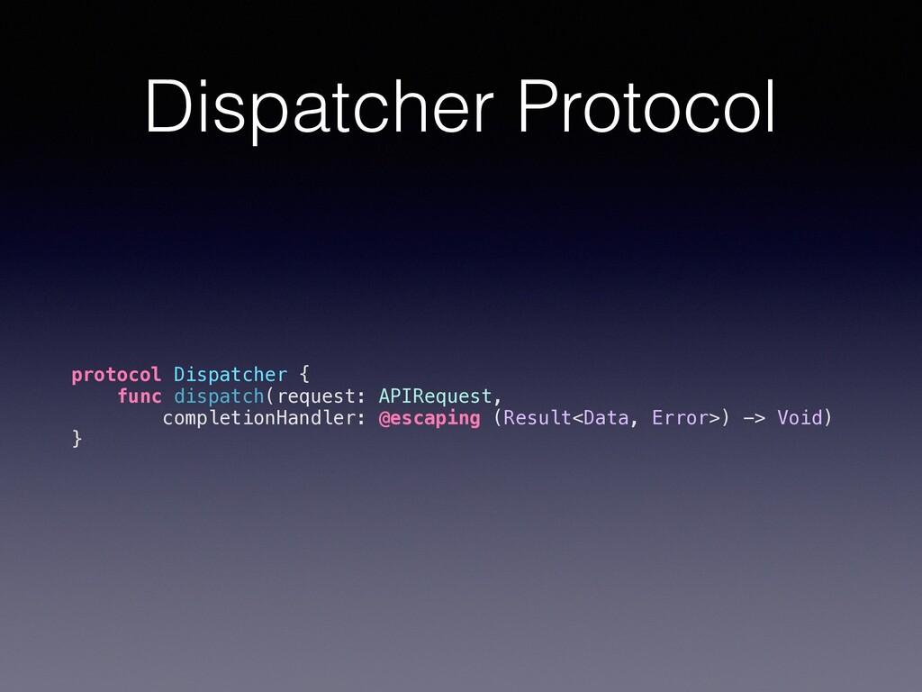 Dispatcher Protocol protocol Dispatcher { func ...