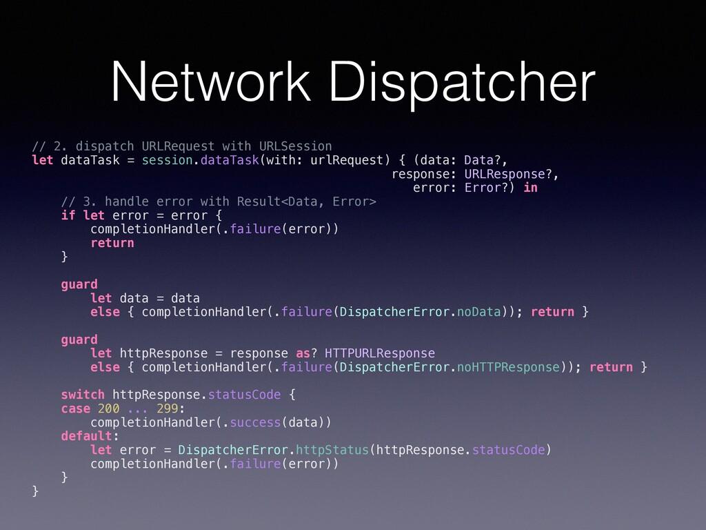 Network Dispatcher // 2. dispatch URLRequest wi...
