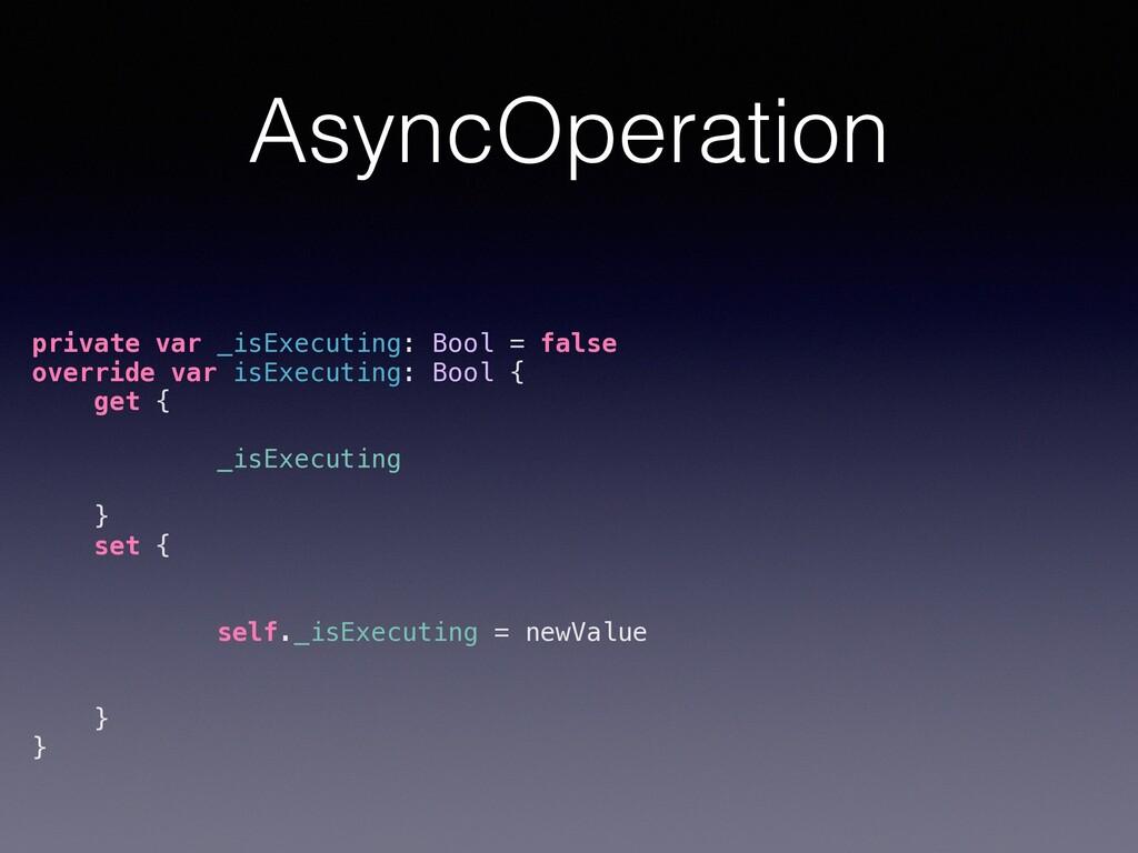 AsyncOperation private var _isExecuting: Bool =...