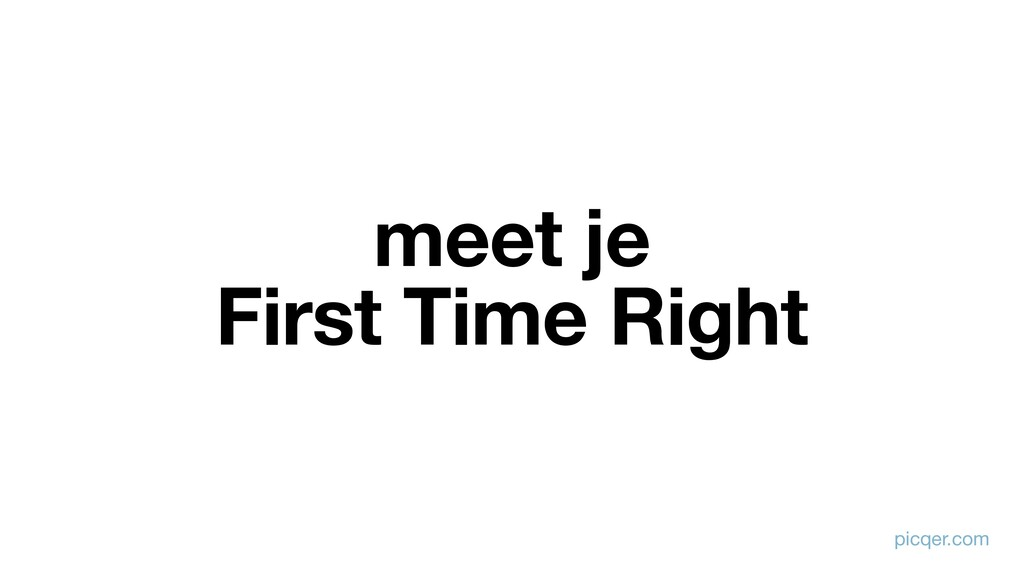 meet je First Time Right picqer.com
