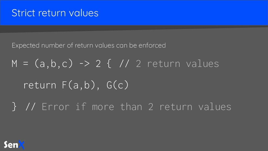Strict return values Expected number of return ...