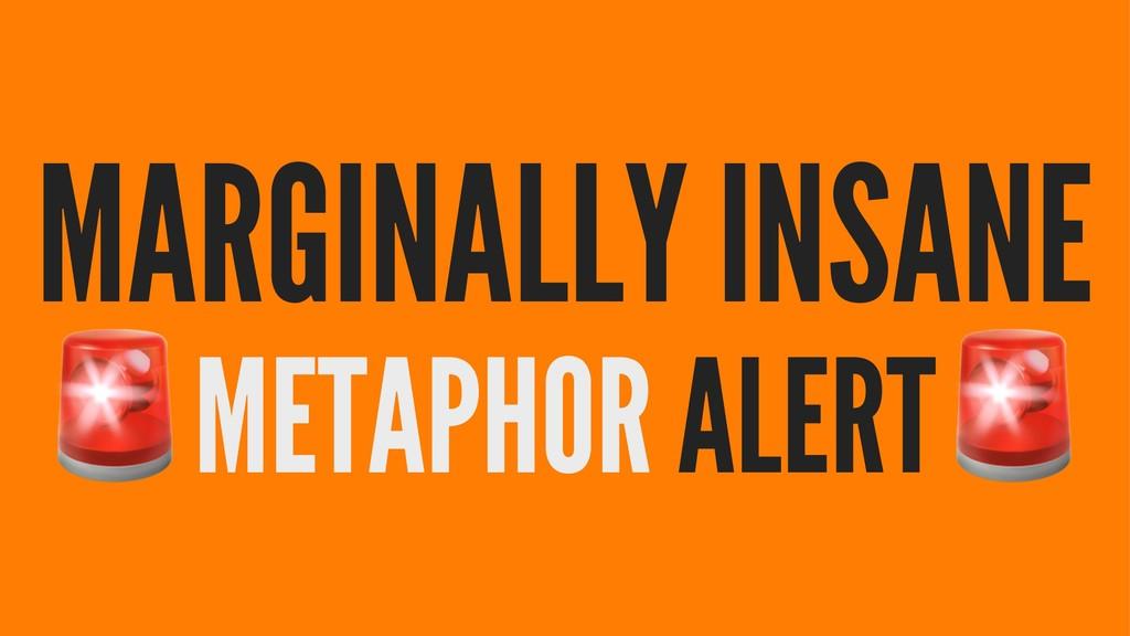 MARGINALLY INSANE ! METAPHOR ALERT