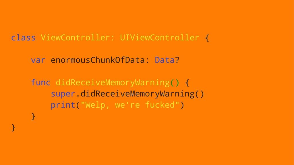 class ViewController: UIViewController { var en...