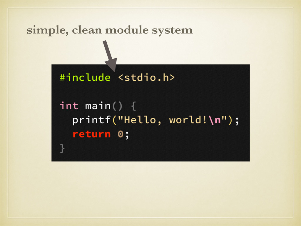 simple, clean module system