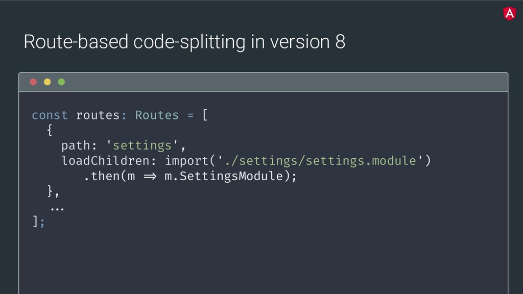 @yourtwitter Route-based code-splitting in vers...