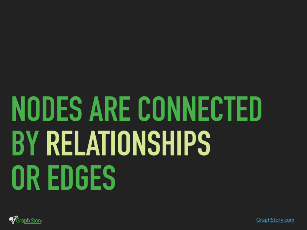 GraphStory.com NODES ARE CONNECTED BY RELATIONS...