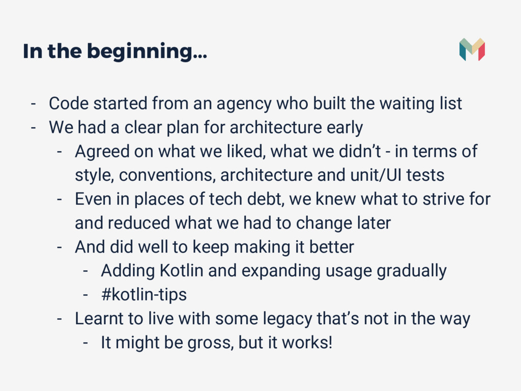 In the beginning... - Code started from an agen...
