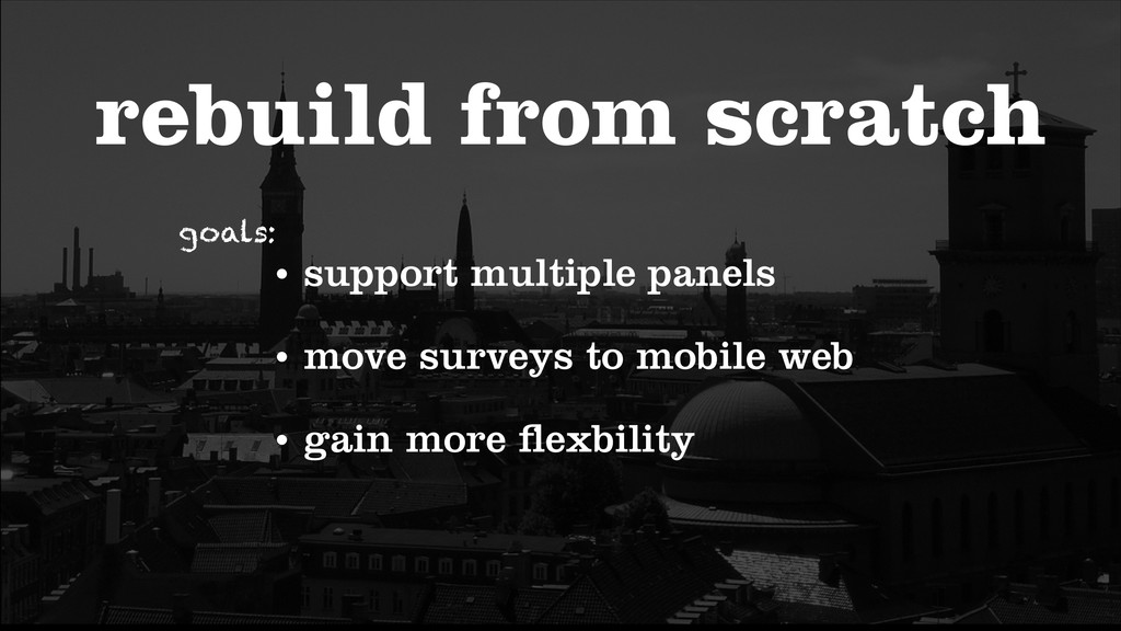 rebuild from scratch • support multiple panels ...