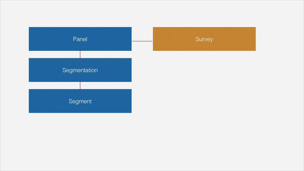 Panel Segmentation Segment Survey