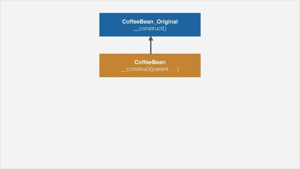 """CoffeeBean_Original"""" __construct() CoffeeBean"""" ..."""