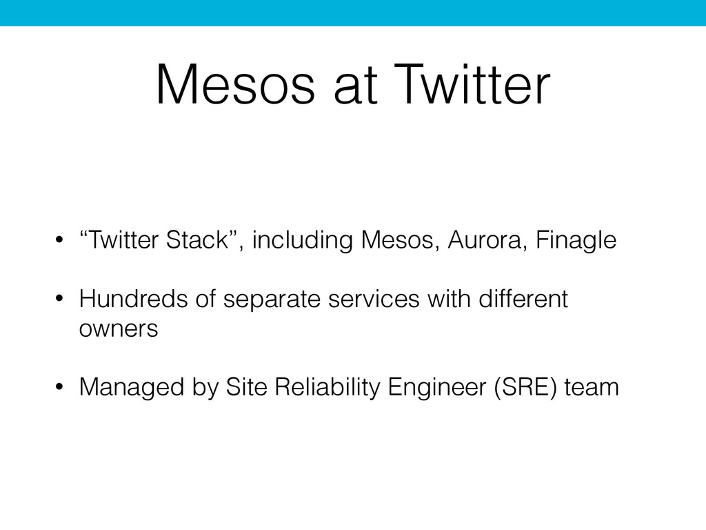 "Mesos at Twitter • ""Twitter Stack"", including M..."
