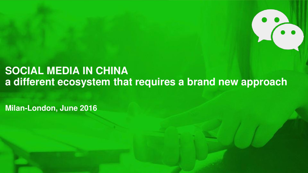 SOCIAL MEDIA IN CHINA a different ecosystem tha...