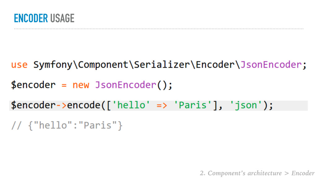 ENCODER USAGE 2. Component's architecture > Enc...
