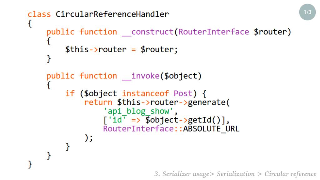 1/3 3. Serializer usage> Serialization > Circul...