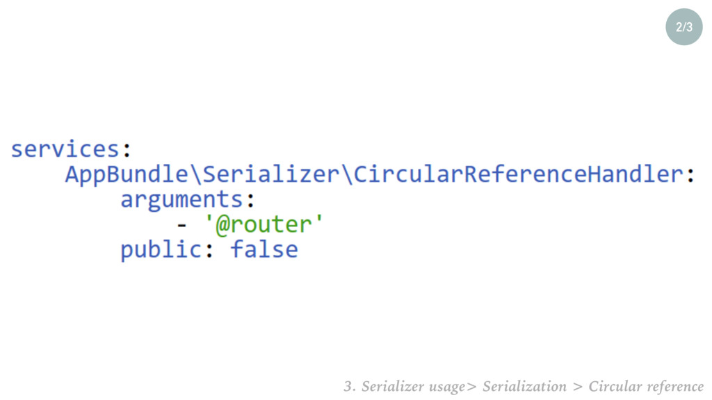2/3 3. Serializer usage> Serialization > Circul...
