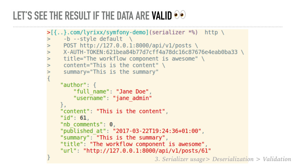 LET'S SEE THE RESULT IF THE DATA ARE VALID  3. ...