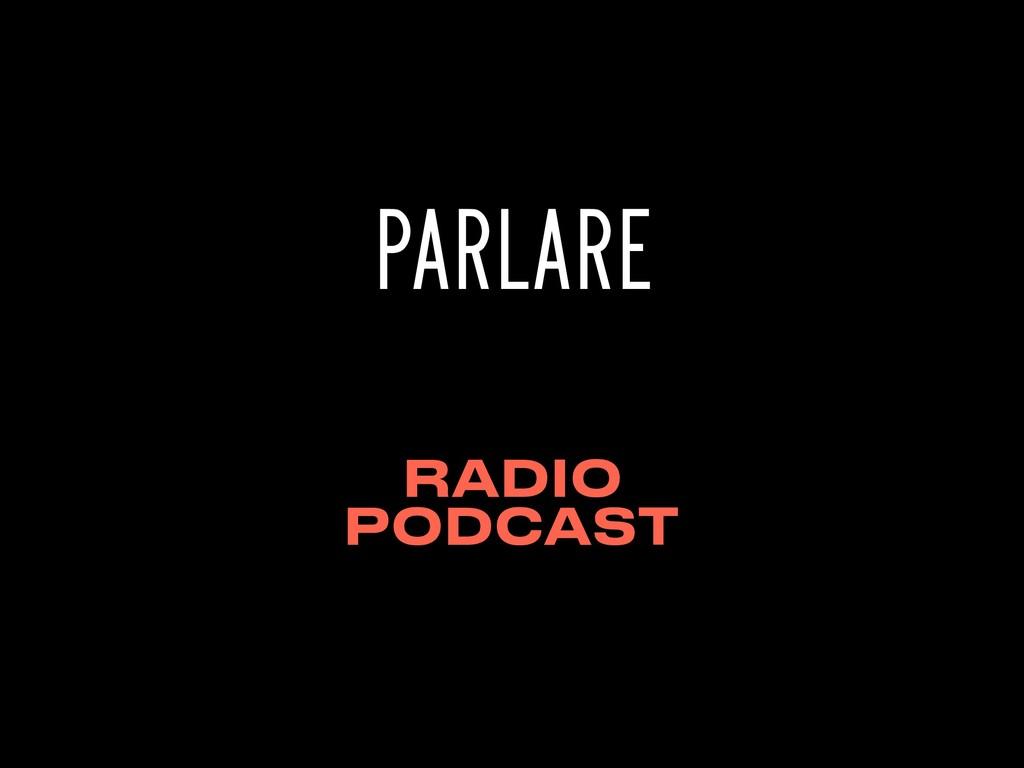 PARLARE RADIO PODCAST
