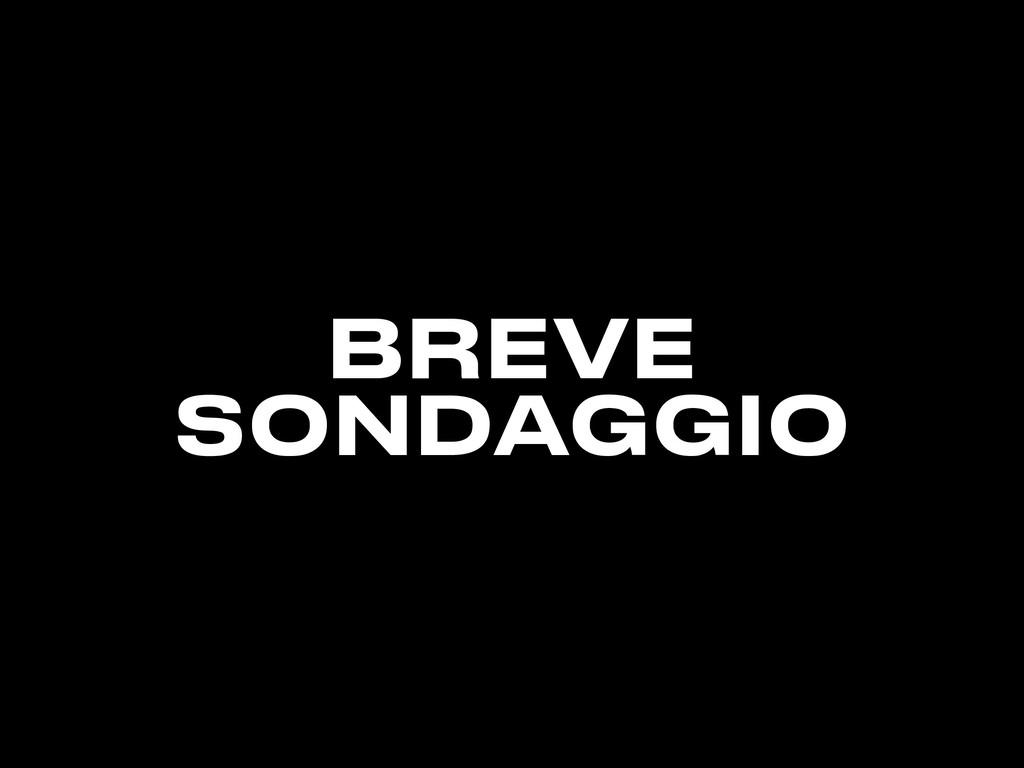 BREVE SONDAGGIO