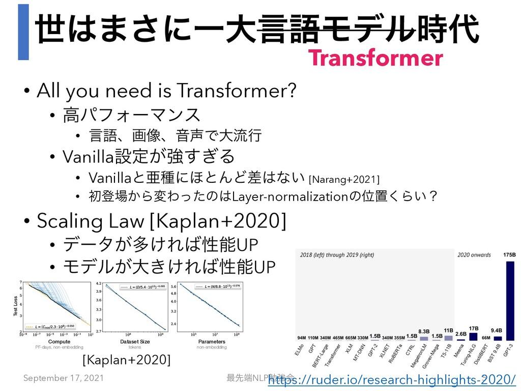 ੈ·͞ʹҰେݴޠϞσϧ • All you need is Transformer? •...