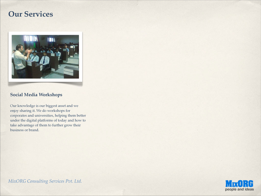 MixORG Consulting Services Pvt. Ltd. Our Servic...