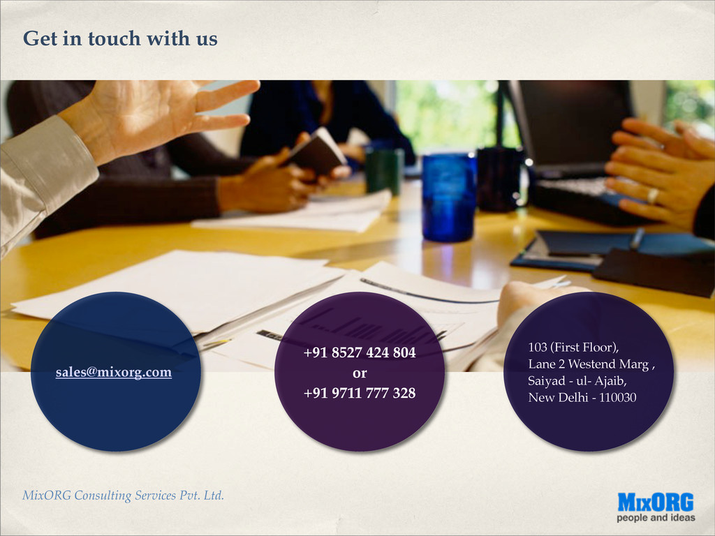MixORG Consulting Services Pvt. Ltd. Get in tou...