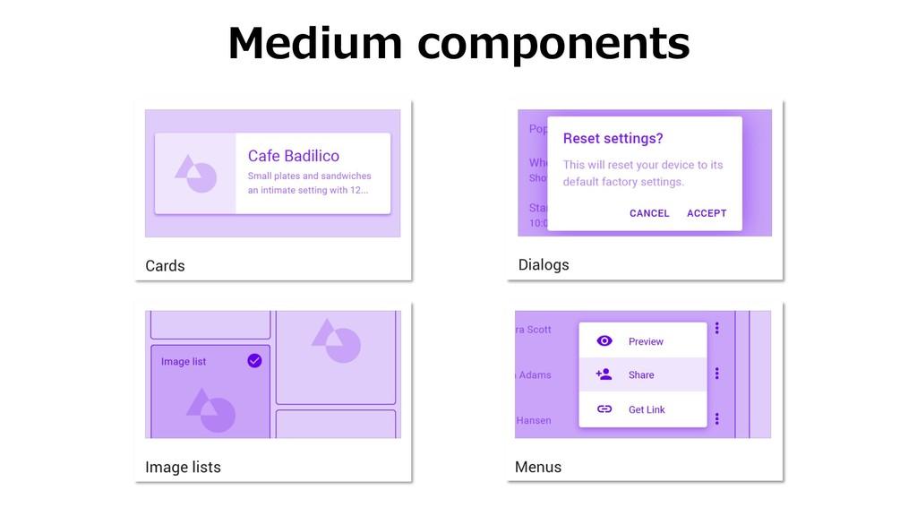 Medium components