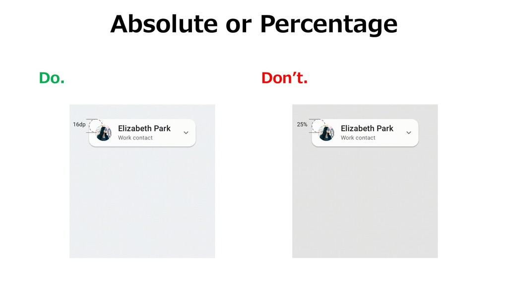 Do. Don't. Absolute or Percentage