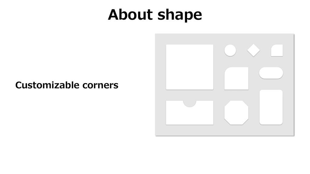 About shape Customizable corners