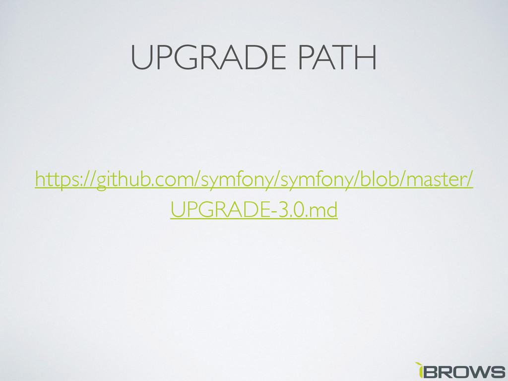 UPGRADE PATH https://github.com/symfony/symfony...