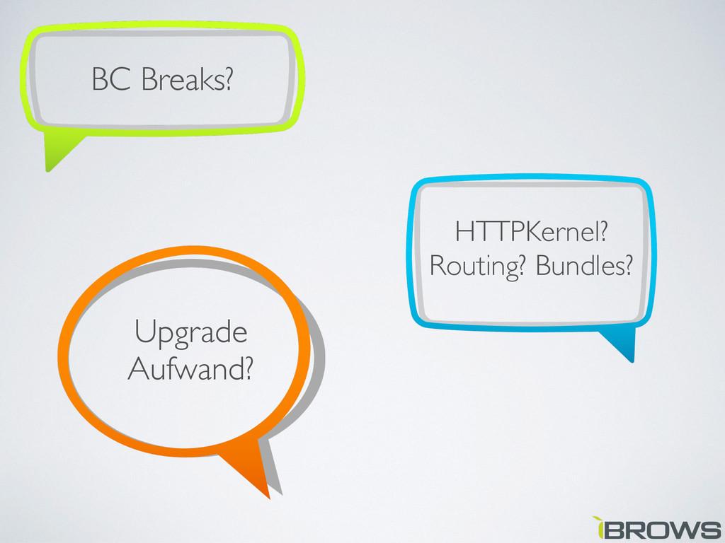 HTTPKernel? Routing? Bundles? BC Breaks? Upgrad...