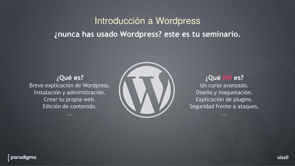 Introducción a Wordpress ¿nunca has usado Wordp...