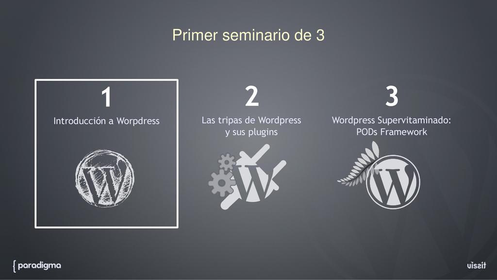 Primer seminario de 3 1 Introducción a Worpdres...