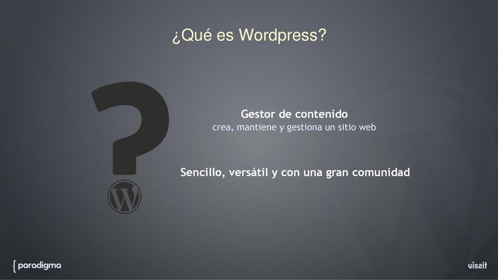 ¿Qué es Wordpress? Gestor de contenido crea, ma...