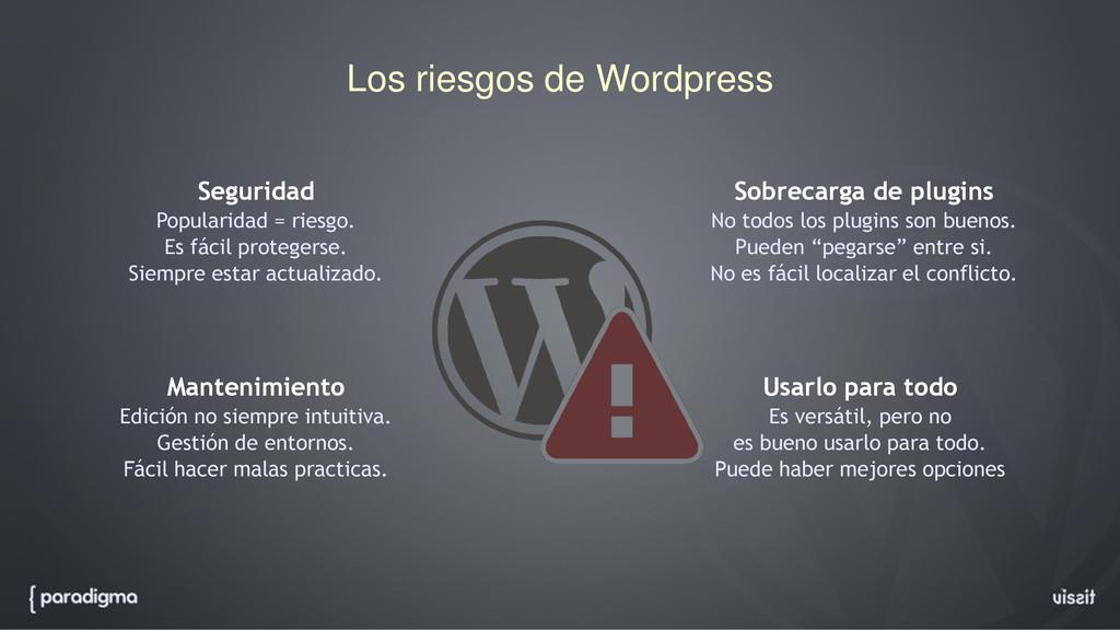 Los riesgos de Wordpress Seguridad Popularidad ...