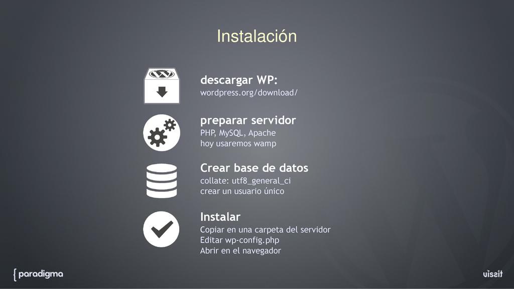 Instalación preparar servidor PHP, MySQL, Apach...