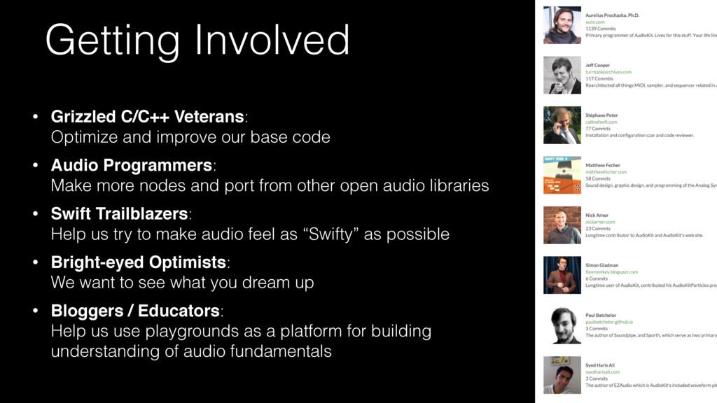• Grizzled C/C++ Veterans:  Optimize and impro...