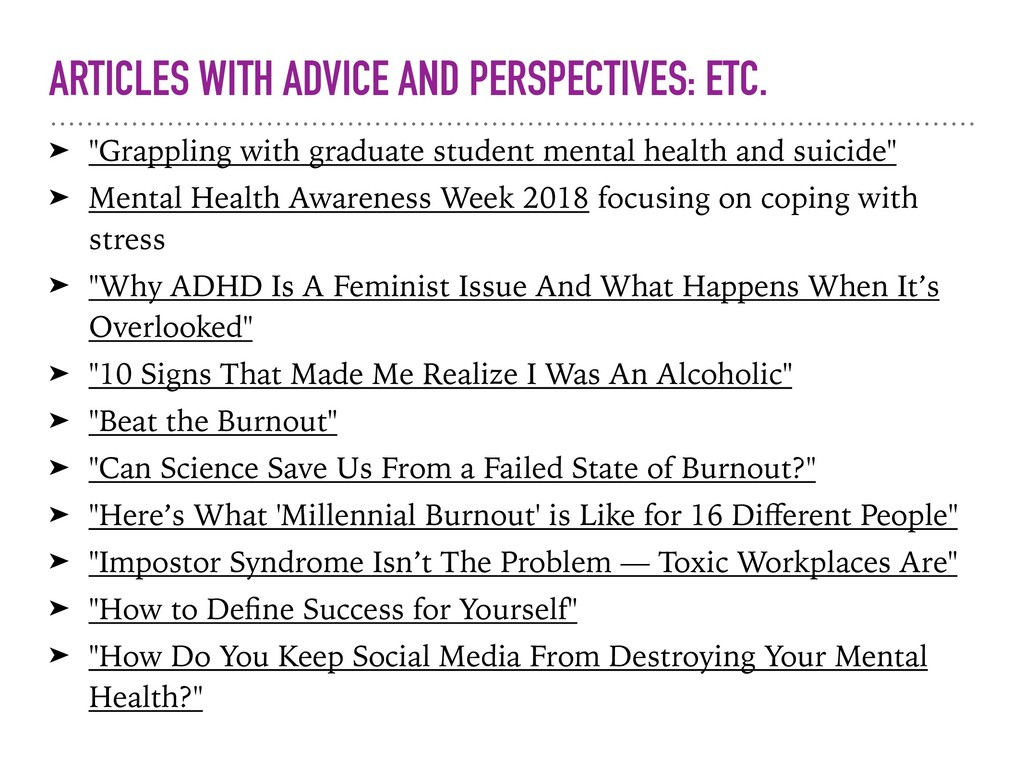 "ARTICLES WITH ADVICE AND PERSPECTIVES: ETC. ➤ ""..."