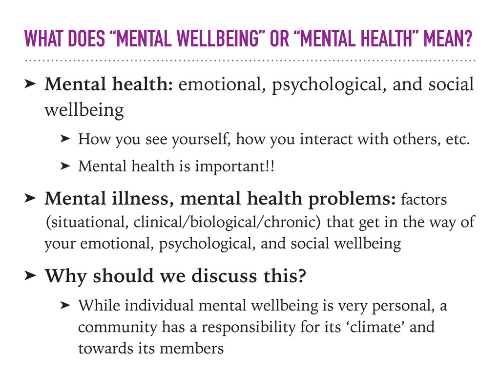 ➤ Mental health: emotional, psychological, and ...