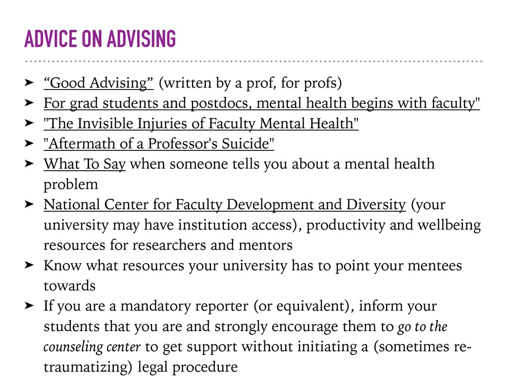 "ADVICE ON ADVISING ➤ ""Good Advising"" (written b..."