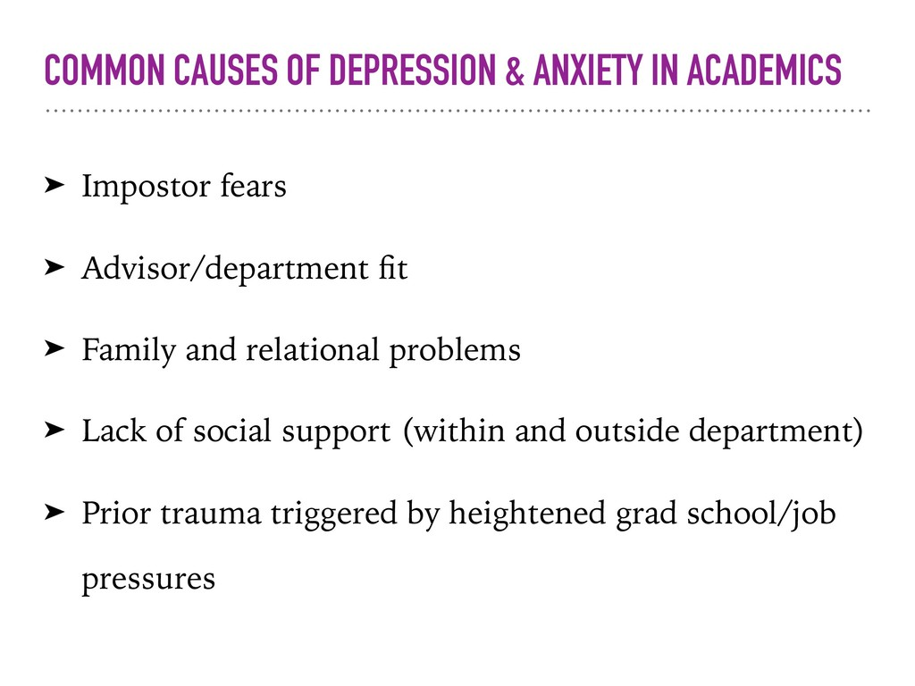 COMMON CAUSES OF DEPRESSION & ANXIETY IN ACADEM...