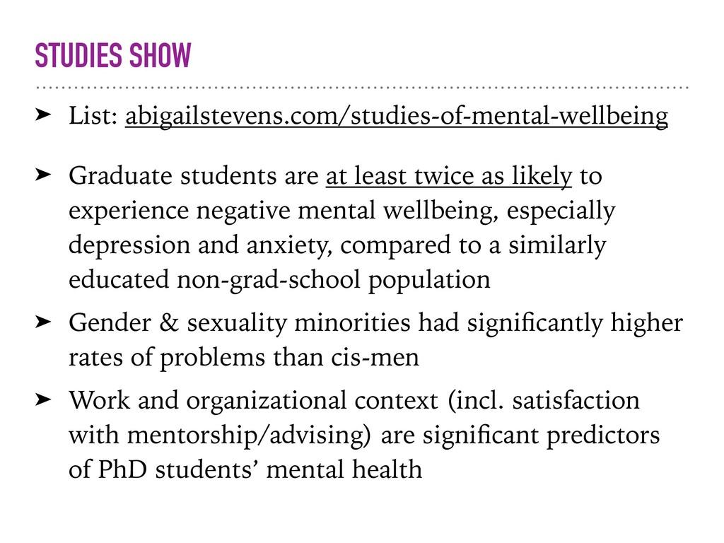STUDIES SHOW ➤ List: abigailstevens.com/studies...